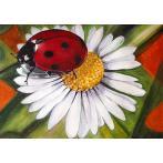 Diamond painting kit - Chamomile and ladybird