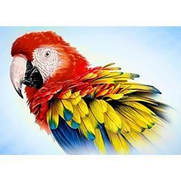 ZTDE 3440 Diamond painting kit - Feathered parrot
