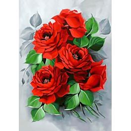 ZTDE 309 Diamond painting kit - Elegant roses