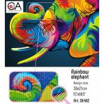 ZTDE 482 Diamond painting kit - Rainbow elephant