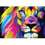 ZTDE 444 Diamond painting kit - Rainbow lion