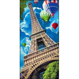 Diamond painting kit - Sky over Paris