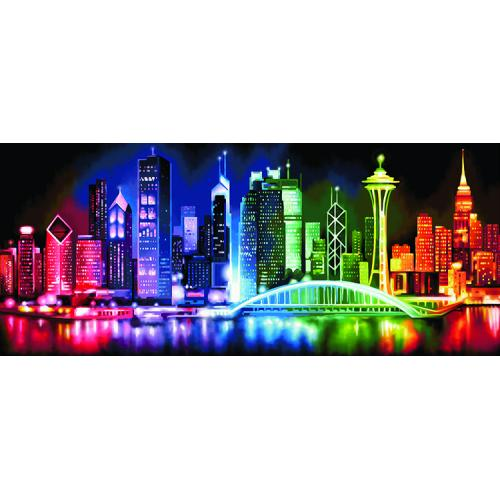 M AZ-1602 Diamond painting kit - Luminous metropolis