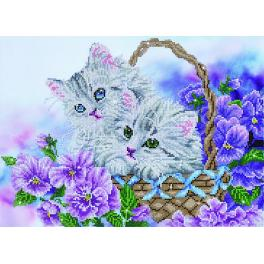 DD10.014 Diamond painting kit - Kitty basket