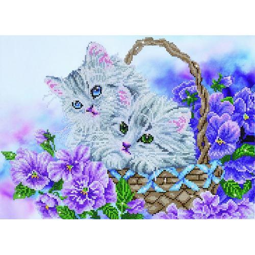 DD10.014 Diamond painting kit - Kitty basket
