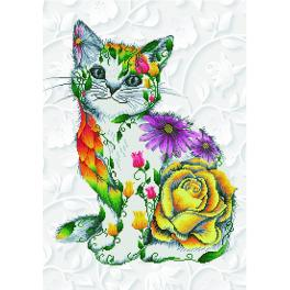 DD13.021 Diamond painting kit - Flower puss