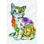 DD13.021 Diamond painting kit - Flower puss