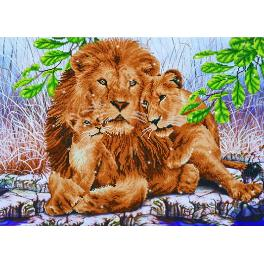 DD13.017 Diamond painting kit - Lion family