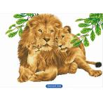 DD13.017 Diamond painting kit - Lion family