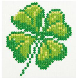 DD1.017 Diamond painting kit - Four leaf clover