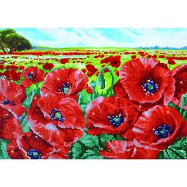 Diamond painting kit - Red poppy field