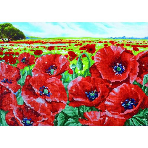 DD10.013 Diamond painting kit - Red poppy field