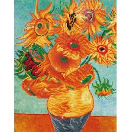 Diamond painting kit - Sunflowers by V.van Gogh