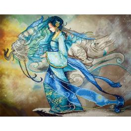 Diamond painting kit - Dragon princess