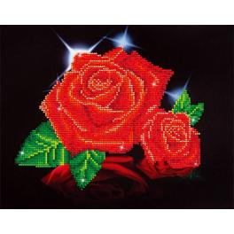 DD5.002 Diamond painting kit - Red rose sparkle