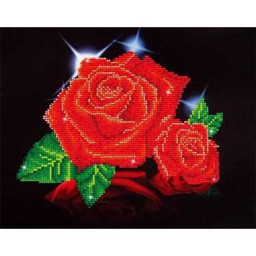 DD5.002 Diamond painting kit - Red rose sparkle