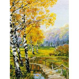 Kit with yarn - Autumn birches