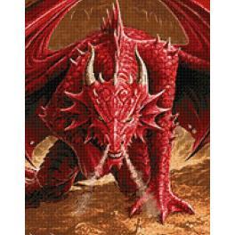 Diamond painting kit - Dragon's anger