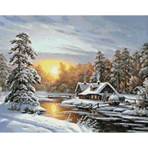 WD105 Diamond painting kit - Winter sunrise