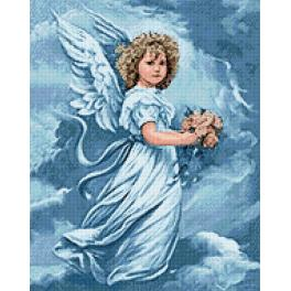 Diamond painting kit - Angel with flowers