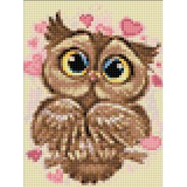 WD296 Diamond painting kit - Owl in love