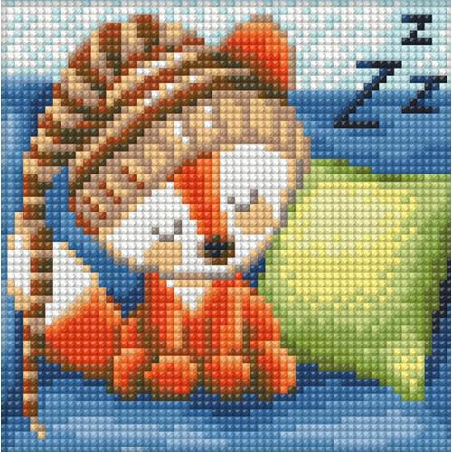 Diamond painting kit - Sleepy fox