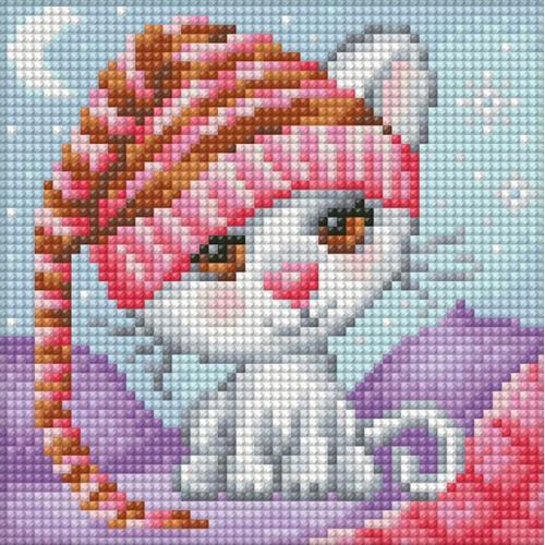 M AZ-1571 Diamond painting kit - Sleepy cat