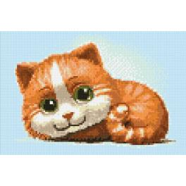 WD194 Diamond painting kit - Ginger cat