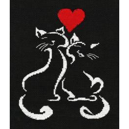 OV 1008 Cross stitch kit - Kitten L'amour
