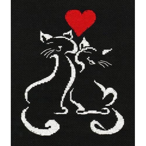OV 1008 Cross stitch kit - Kitten L'amour