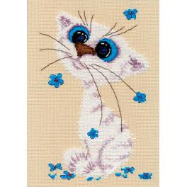 OV 1020 Cross stitch kit - Little cat