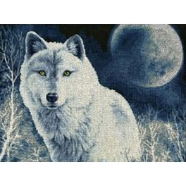 RDZH 029 Cross stitch kit - White wolf