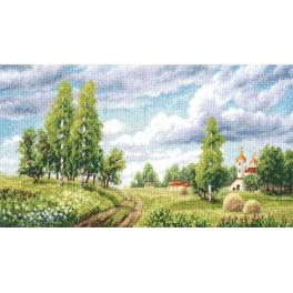 RVM 005 Cross stitch kit - Spring field