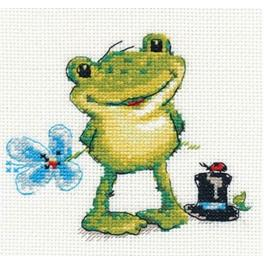 Cross stitch kit - Little frog