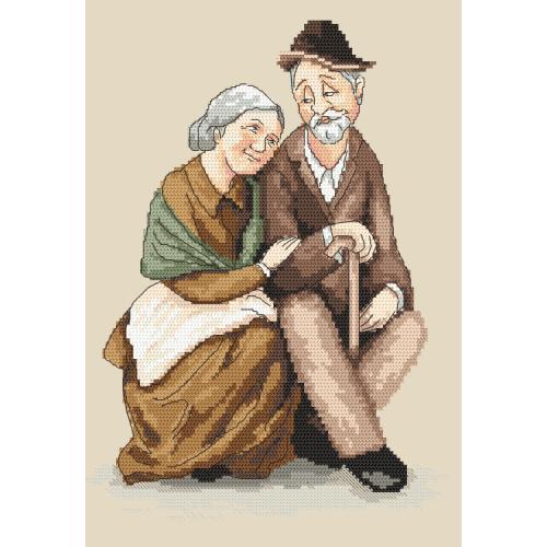 Cross stitch pattern - Grandma and grandpa