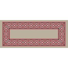 Cross stitch pattern - Ethnic runner linen I