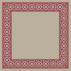 Cross stitch kit - Ethnic tablecloth linen I