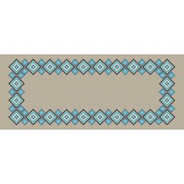 W 8948 ONLINE pattern pdf - Ethnic table runner linen II