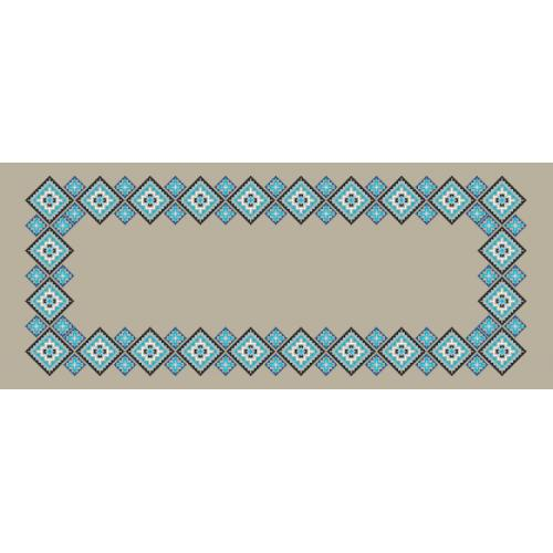 Cross stitch pattern - Ethnic runner linen II
