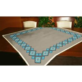Cross stitch kit - Ethnic tablecloth linen II