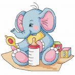 Online pattern - Blue elephant