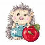 Online pattern - Delightful hedgehog