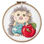 Cross stitch pattern - Delightful hedgehog