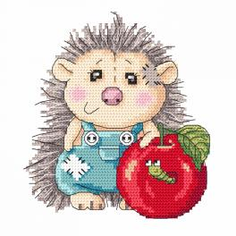 Cross stitch kit - Delightful hedgehog