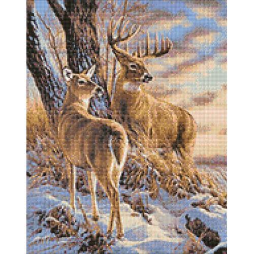 WD085 Diamond painting kit - Dear in winter