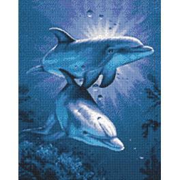 Diamond painting kit - Dolphin's dating