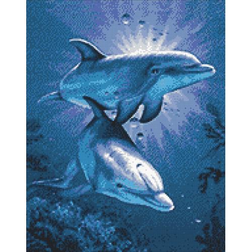 WD222 Diamond painting kit - Dolphin's dating