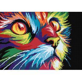 WD200 Diamond painting kit - Rainbow cat