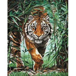 Diamond painting kit - Dangerous tiger