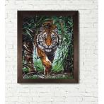 Diamond painting kit - Dangerous tiger